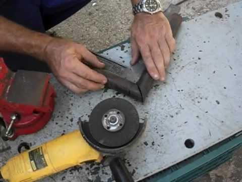 C mo cortar tubo redondo en inglete a 45 con amoladora o - Como instalar una bisagra de 180 grados ...