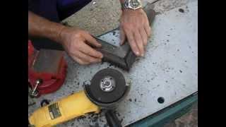 Cómo cortar tubo redondo en inglete a 45º con amoladora o radial.