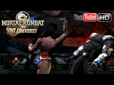 Mortal Kombat VS DC Universe [Xbox 360] - ✪ Jax Vs Wonder Woman ✪ | Full HD
