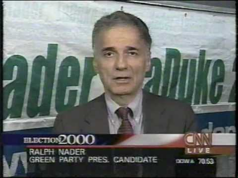 2000 Election Eve CNN Ralph Nader, Green Party ...
