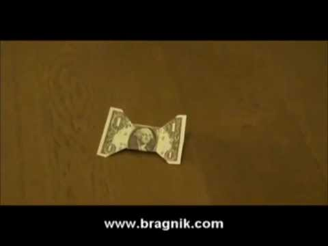 Bow Tie Made Of The Dollar Bill Origami Youtube