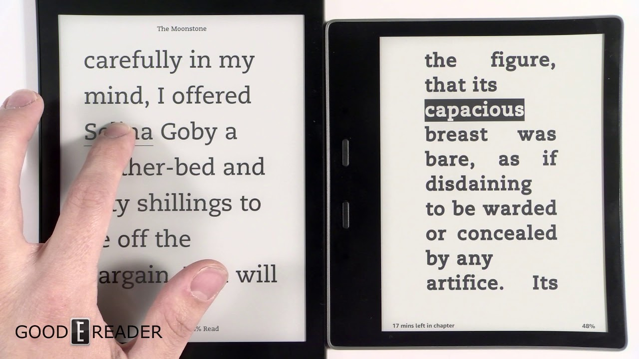 Amazon Kindle Oasis 2017 vs Kobo Aura One