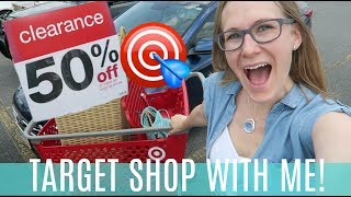 TARGET SHOP WITH ME! 🎯 Dollar Spot, 50% off Clearance, Back to School, Home Decor & Haul!