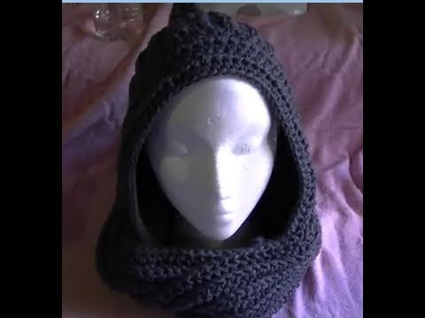 How To Crochet A Easy Scoodie Part 1 Of 2 Scarfhoodie Youtube