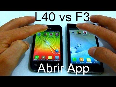 LG L40 vs LG Optimus F3 - Abrindo App [Teste de Velocidade]