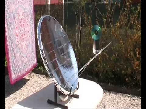 Solar Engine Homemade Stirling Motor