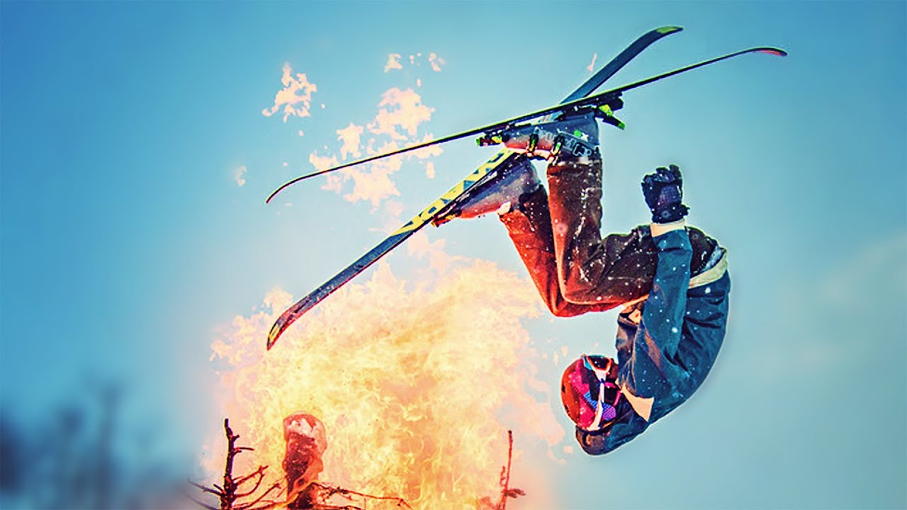 EPIC SNOW JUMP THROUGH FIRE! // ScottDW - EPIC SNOW JUMP THROUGH FIRE! // ScottDW