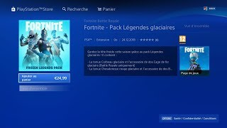 "24 DECEMBRE' FORTNITE BOUTIQUE! New PACK OF SKIN ""LEGENDES GLACIALS"" live en"
