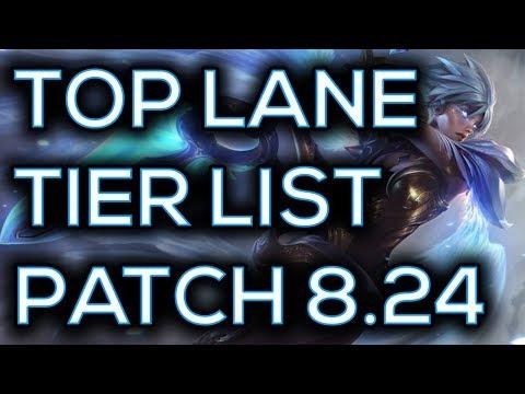 Top Lane Tier List Pre Season Patch 8.24   Best Top Laners To Carry Solo Queue Pre Season 9 8.24