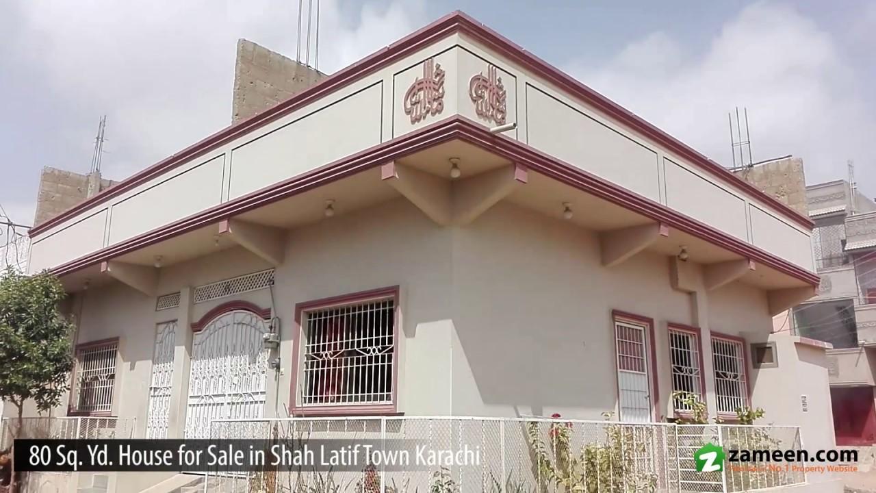 80 Sq  Yd  HOUSE IS AVAILABLE FOR SALE IN SHAH LATIF TOWN BIN QASIM TOWN  KARACHI