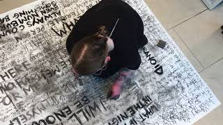 'Inhale' live performance at THAT Gallery Basingstoke 2018