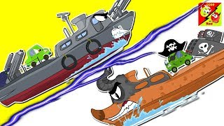 Ships War Ver 02 | Good Vs Evil | Truck Battles For Children | Cartoons Videos For Kids
