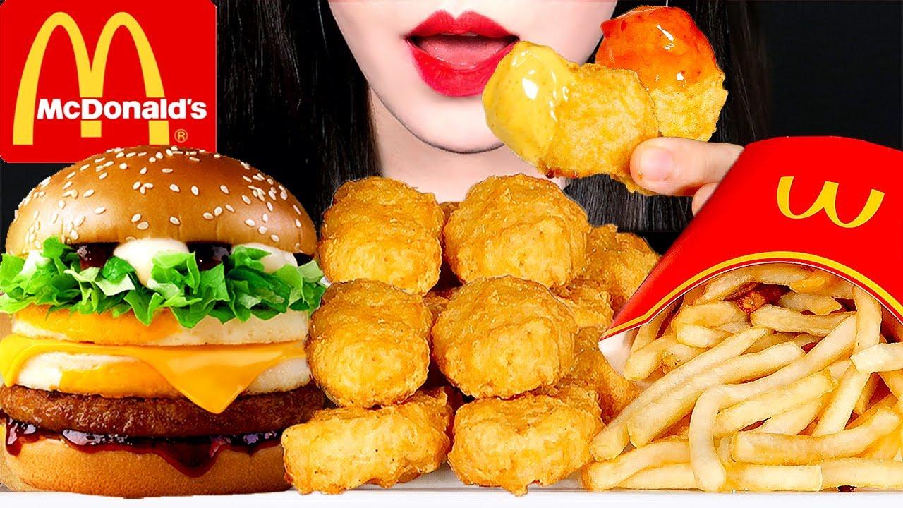ASMR MCDONALD'S EGG BULGOGI BURGER CHICKEN NUGGETS FRIES 맥도날드 에그불고기버거 치킨너겟 먹방 EATING SOUNDS MUKBANG