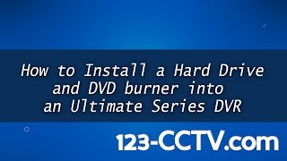 How to install a hard drive in your CCTV DVR - High Capacity Series