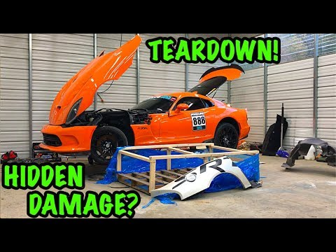 Rebuilding A Wrecked 2014 Dodge Viper TA TIME ATTACK PART 3