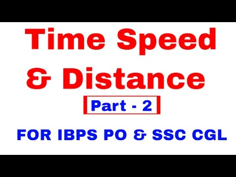 Time Speed and Distance For IBPS PO | SSC CGL [In Hindi] Part 2