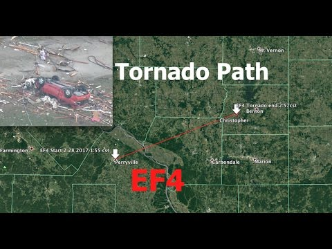 """""""Upgraded"""" EF4 Tornado devistates for *50 linear miles* 