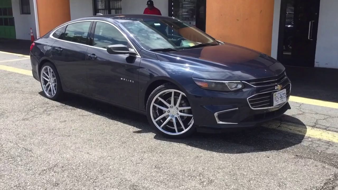 2017 Chevrolet Malibu Sitting On 20 Cavallo Clv 4 Chrome Wheels Wred In 245 35 Lexani Tires