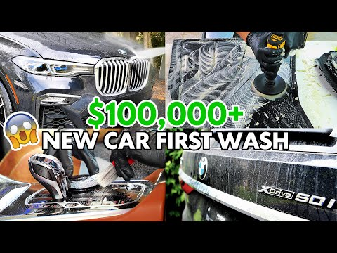 First Wash EVER of a 2020 BMW X7 50i Brand New Car Detailing INTERIOR & EXTERIOR Transformation