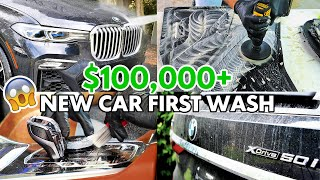 First Wash 2020 BMW X7 50i Brand New Car Detailing || INTERIOR & EXTERIOR Cleaning Transformation
