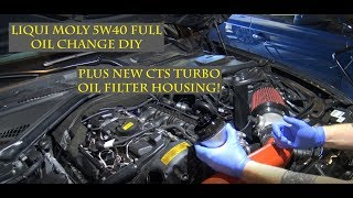 Liquid Moly and CTS Turbo Oil Change DIY for the BMW F3X series