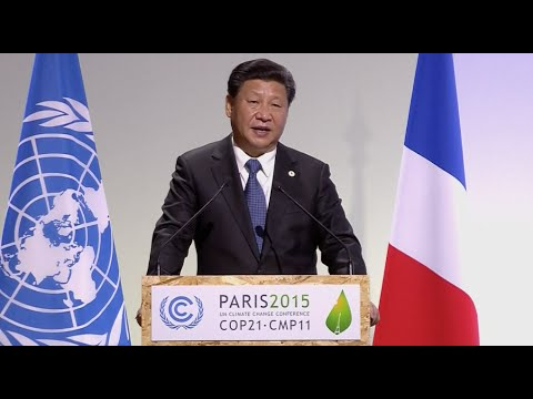 Chinese President Xi Jinping Delivers Speech at Paris Climate Conference