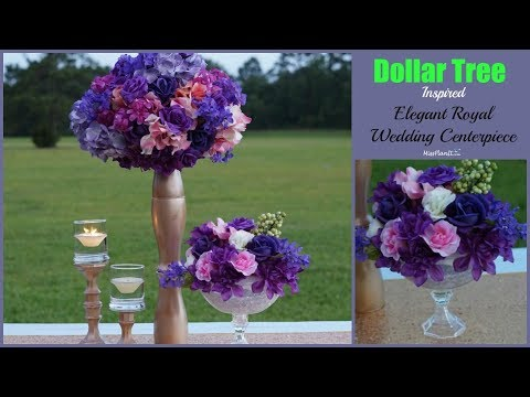 Dollar Tree Inspired Tall Elegant  Wedding Centerpiece | Dollar Tree  Centerpiece | DIY Tutorial