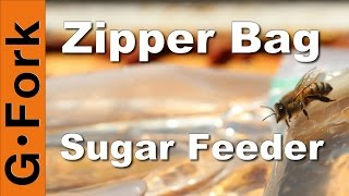 Beekeeping: Spring Sugar Feeding with zip bags : GardenFork.TV