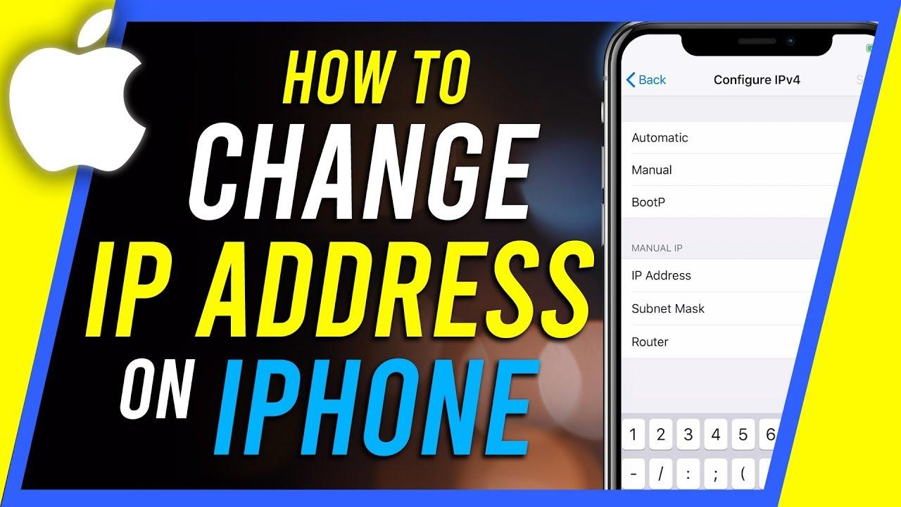 How To Change Ip Address On Iphone Youtube