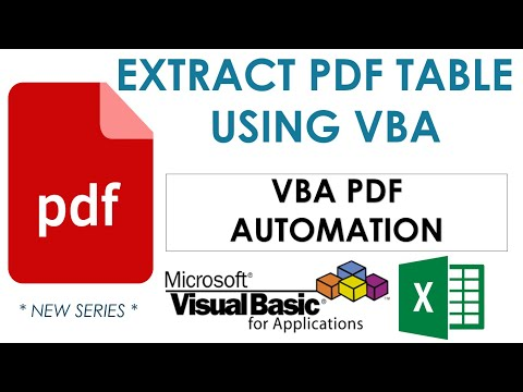 VBA To Extract Table From PDF Document - VBA PDF Automation-4