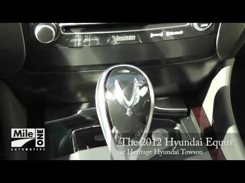 The New 2012 Hyundai Equus is Here Heritage Hyundai Towson, MD Dealer