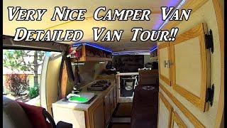 Very Nice Camper Van ! Detailed Van Tour ! Van Build !