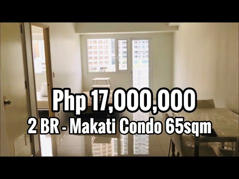2 Bedroom with Balcony FOR SALE in Jazz Residences Makati