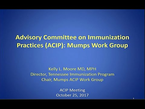 October 2017 ACIP Meeting - Mumps; Vaccine Safety; Human Papillomavirus (HPV) Vaccines Update