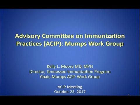 October 2017 ACIP Meeting - Mumps; Vaccine Safety; Human Papillomavirus (HPV) Vaccines Update