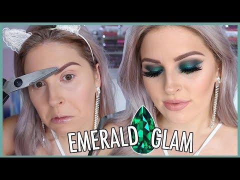 Glam Emerald Makeup! 🐸💍 GEMSTONE SERIES!