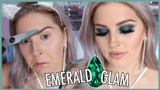 Glam Emerald Makeup! 🐸💍 GEMSTONE SERIES!