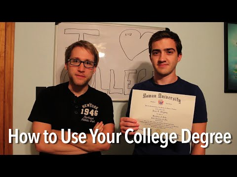 How to Use Your College Degree