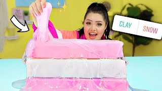 I Let My Followers Control My Slime! Jumbo Clear Clay Slime