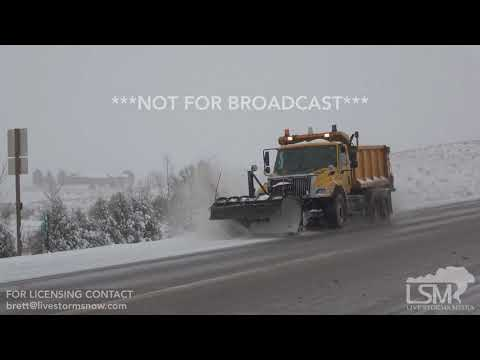 01-21-2018 - Chadron, Nebraska - Icy Road Conditions with Approaching snowfall