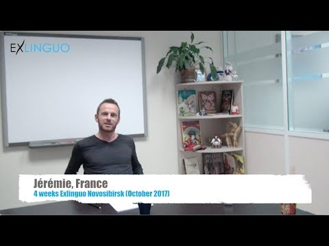 Learning Russian at Exlinguo Novosibirsk | Video Review by Jérémie, France (October 2017)