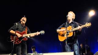 "Glen Hansard with Richard Thompson ""Who Knows Where The Time Goes"" in Durham, NC 11/27/15 (6 of 8)"
