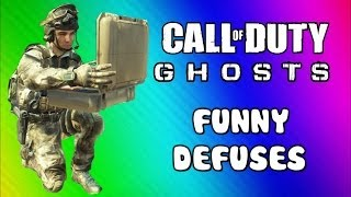 COD Ghosts Ninja Defusing & Riot Shield Fun (Funny Moments, Trap Defuses, Squadmate, & Fails)