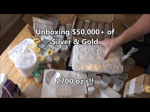 Unboxing £40,000+ of Silver & Gold - 2700 oz's!!!