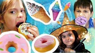 Fındıklar!!! Komik video. Elis, Mikail ve Meryem yeni  oyuncaklar buldular.