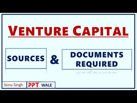 VENTURE CAPITAL IN HINDI | Concept, Sources & Documents Required | ENTREPRENEURSHIP | BBA/MBA | ppt