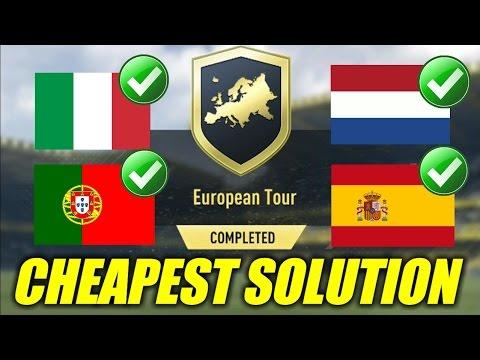 European Tour SBC Cheapest Solution | Squad Building Challenge | FIFA 17