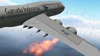 Garudo Airlines B747 Emergency Landing Due To Bird Strike!! | X-plane 11