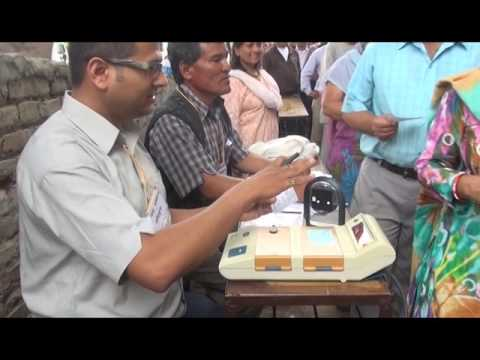Electronic Voting Machine used in Nepal, Mock Polling by EVM