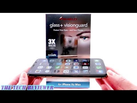 Zagg Glass+ VisionGuard for iPhone Xs Max: Fabulous Installer * Eyesafe Technology * Excellent Fit!